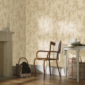 Willow Tree Neutral And Rust Wallpaper