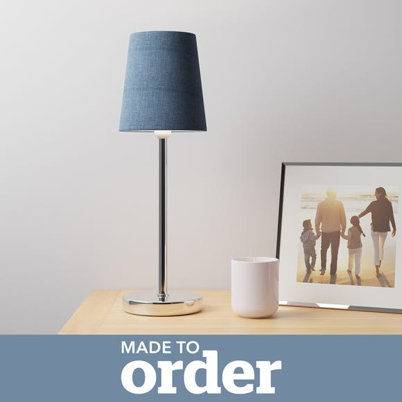Made to Order 12cm Candle Shade Linoso Denim