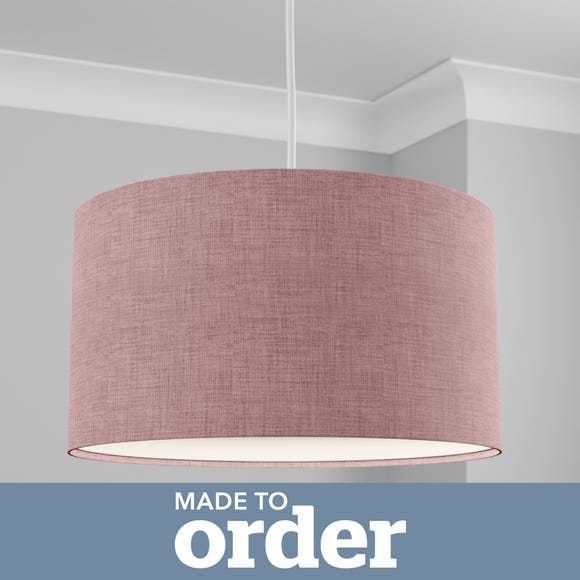 Made to Order 50cm Cylinder Shade Linoso Heather