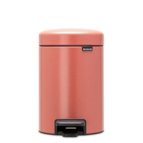 Brabantia Terracotta Pink 3L Pedal Bin