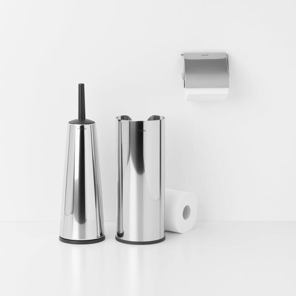 Brabantia Brilliant Steel Set of 3 Toilet Accessories Silver