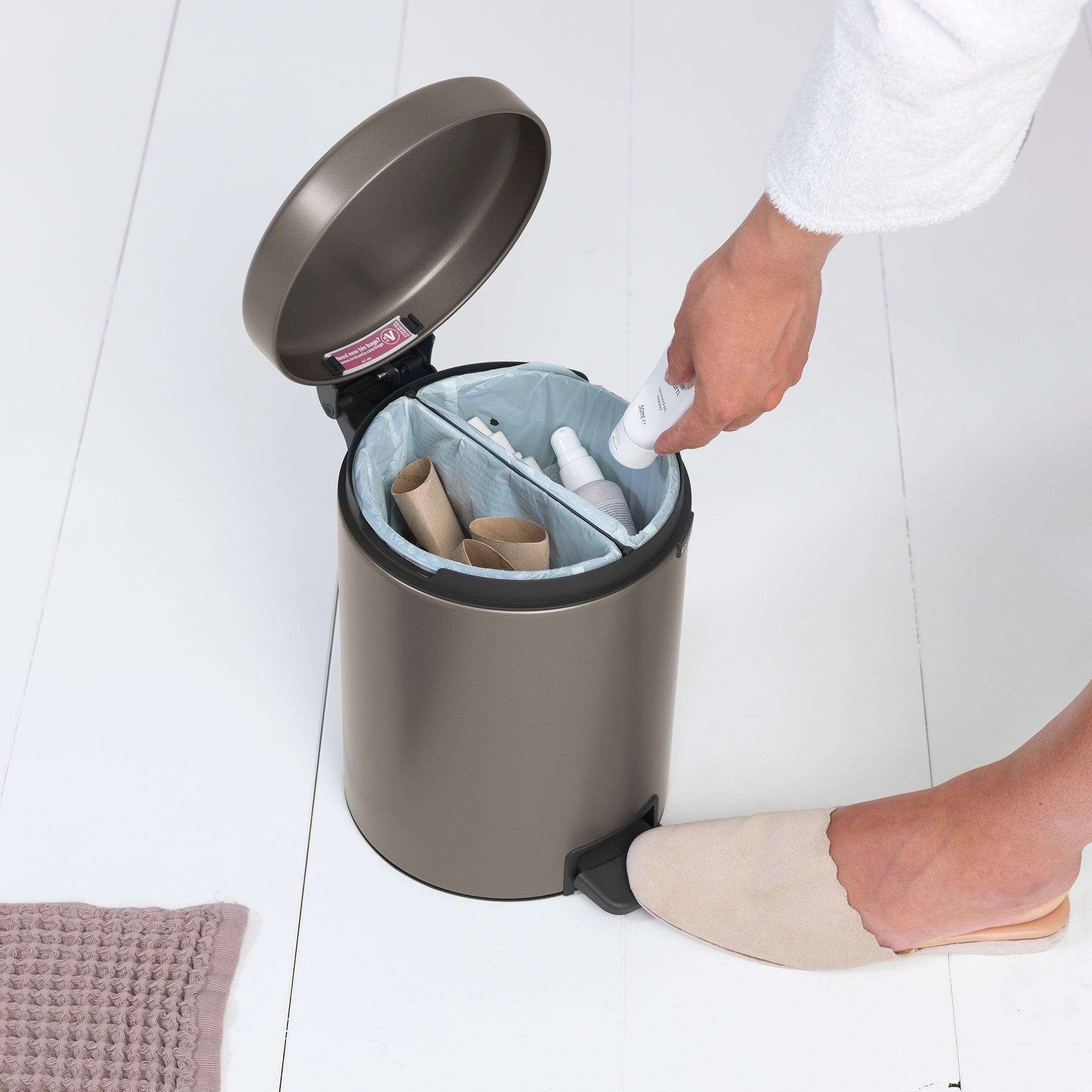 Brabantia Platinum 4L Recycle Bin Silver