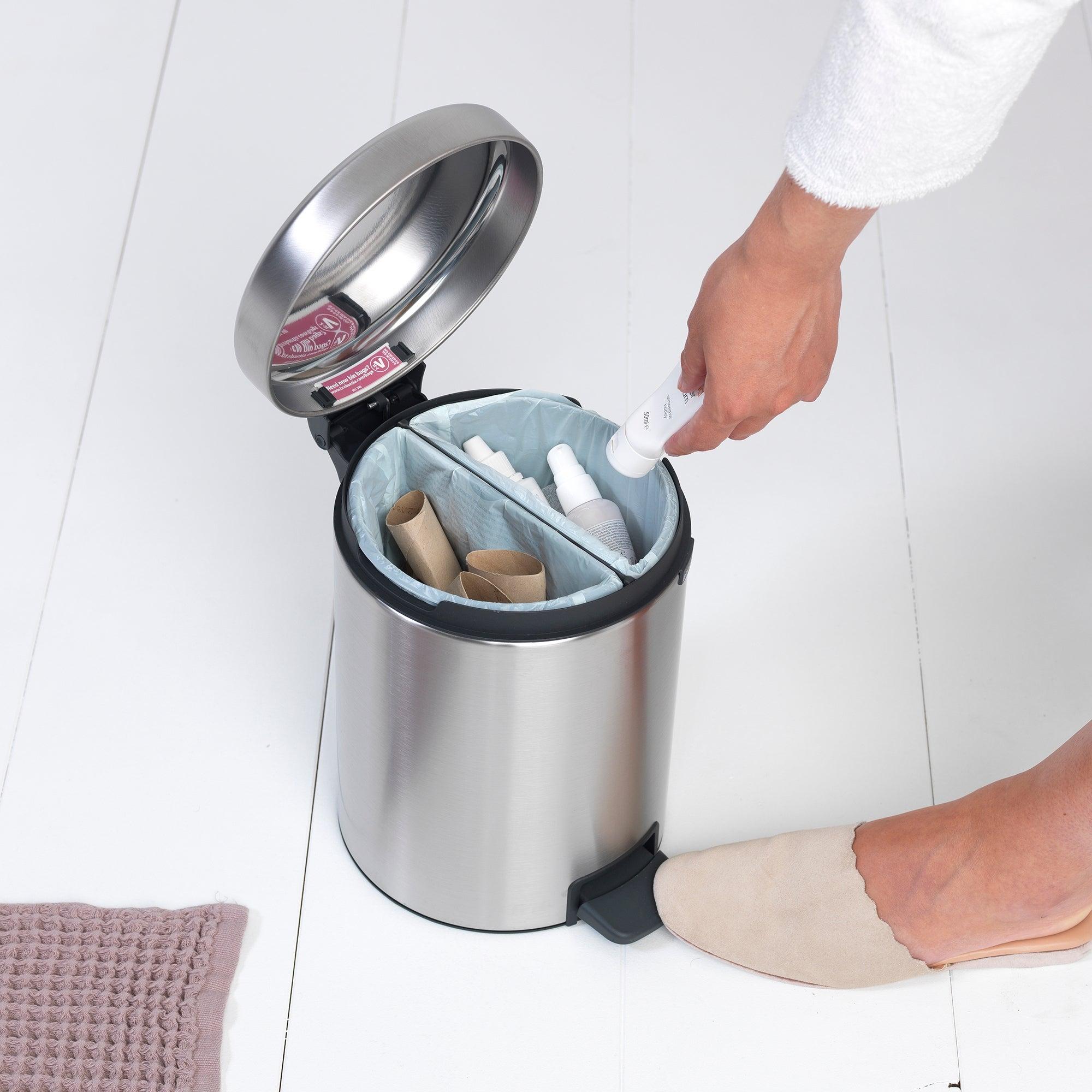 Brabantia Matt Steel 4L Recycle Bin Silver