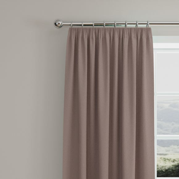 Caldo Thermal Dried Lavender Pencil Pleat Curtains  undefined