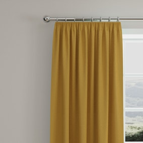 Caldo Thermal Old Gold Pencil Pleat Curtains
