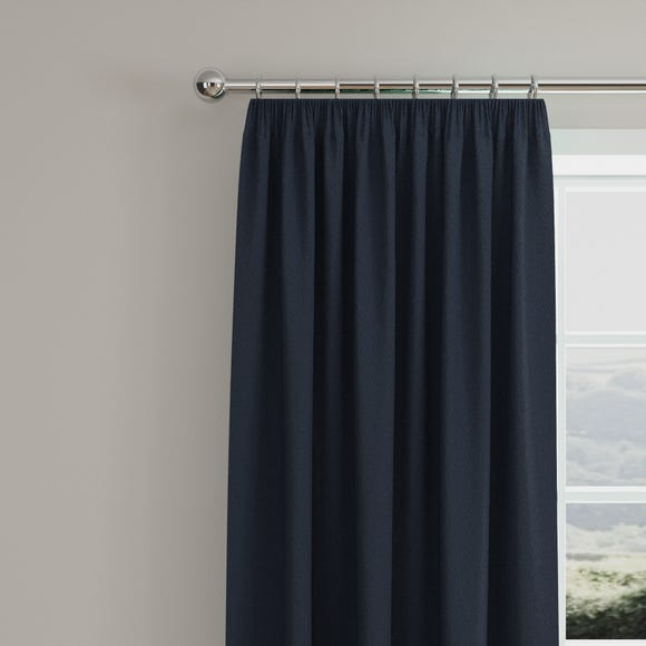 Caldo Thermal Navy Pencil Pleat Curtains  undefined