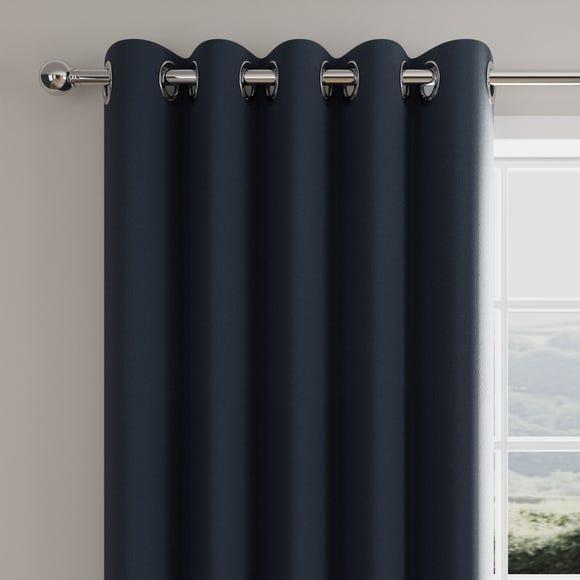 Caldo Thermal Navy Eyelet Curtains  undefined