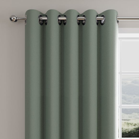 Caldo Thermal Lily Pad Eyelet Curtains  undefined