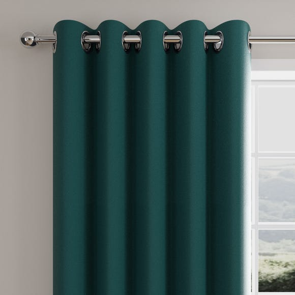 Caldo Thermal Peacock Eyelet Curtains  undefined