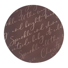 Sparkle Printed Charger