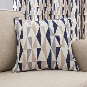 Elements Triangles Navy Cushion