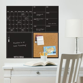 Black 4 Piece Organisation Board