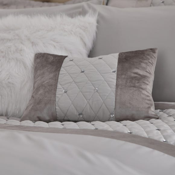 Catherine Lansfield Silver Sequin Cluster Cushion Silver