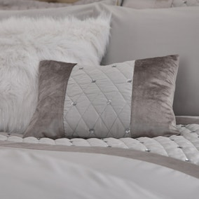 Catherine Lansfield Silver Sequin Cluster Cushion