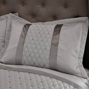Catherine Lansfield Silver Sequin Cluster Pillow Sham Pair