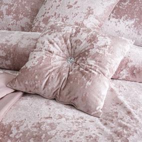 Catherine Lansfield Blush Crushed Velvet Cushion