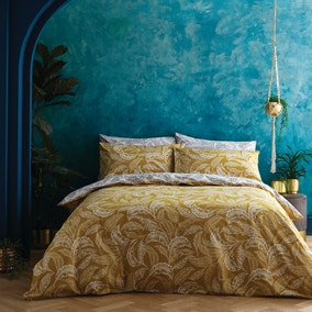 Accessorize Mozambique Ochre Duvet Cover and Pillowcase Set