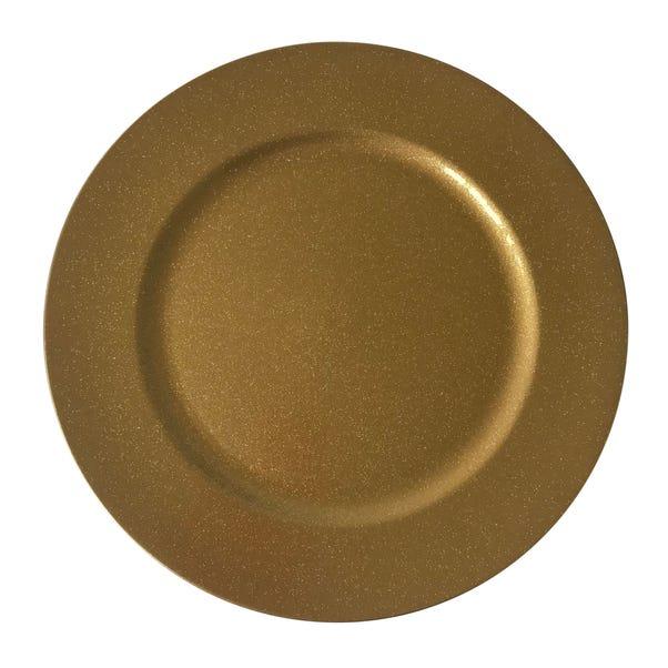 Deep Gold Glitter Charger Plate Gold