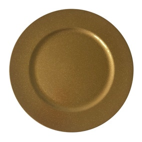 Deep Gold Glitter Charger Plate