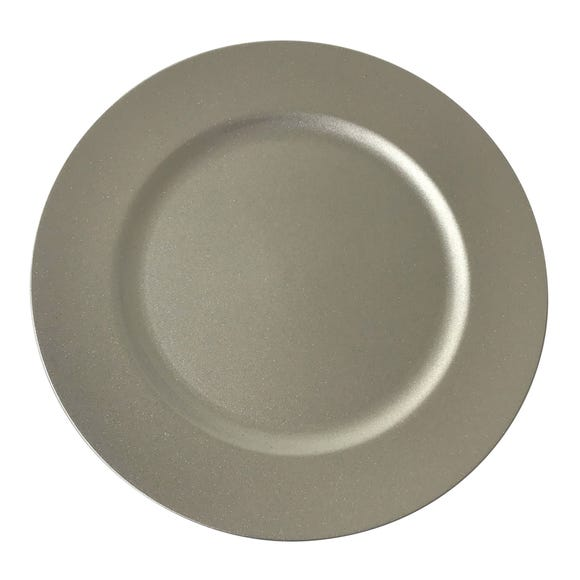 Glitter Charger Plate Silver