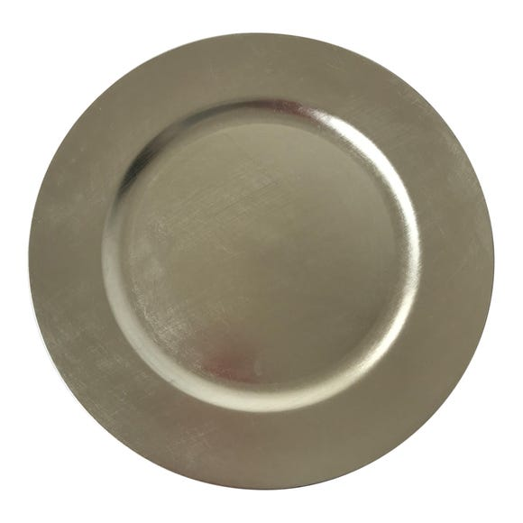 Silver Foil Charger Plate Silver