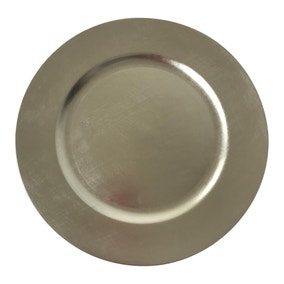 Silver Foil Charger Plate