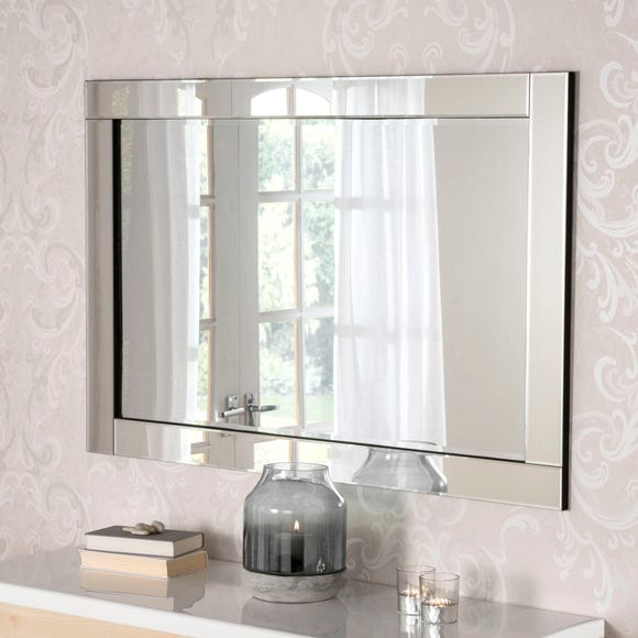 Yearn Simple Contemporary Mirror Clear undefined