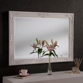 White Yearn Florence Rectangle Mirror