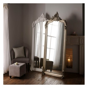 Yearn Full Length Baroque Silver Mirror