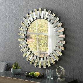 Yearn Multifaceted Round Mirror
