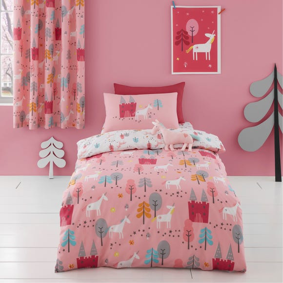 Cosatto Unicornland 100% Cotton Duvet Cover and Pillowcase Set Pink undefined