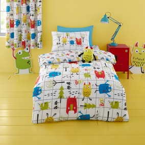 Cosatto Monster Mob 100% Cotton Duvet Cover and Pillowcase Set