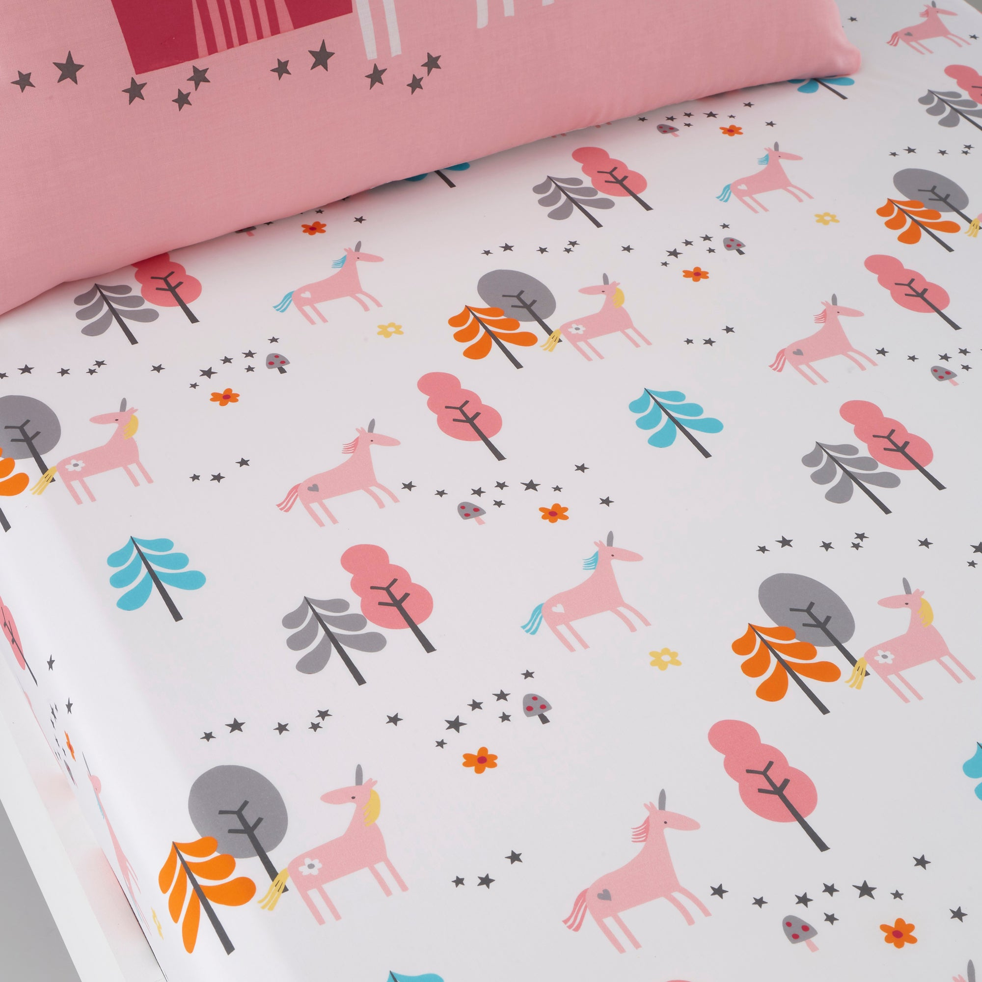 Cosatto Fitted Bed Sheets Cotbed Unicornland
