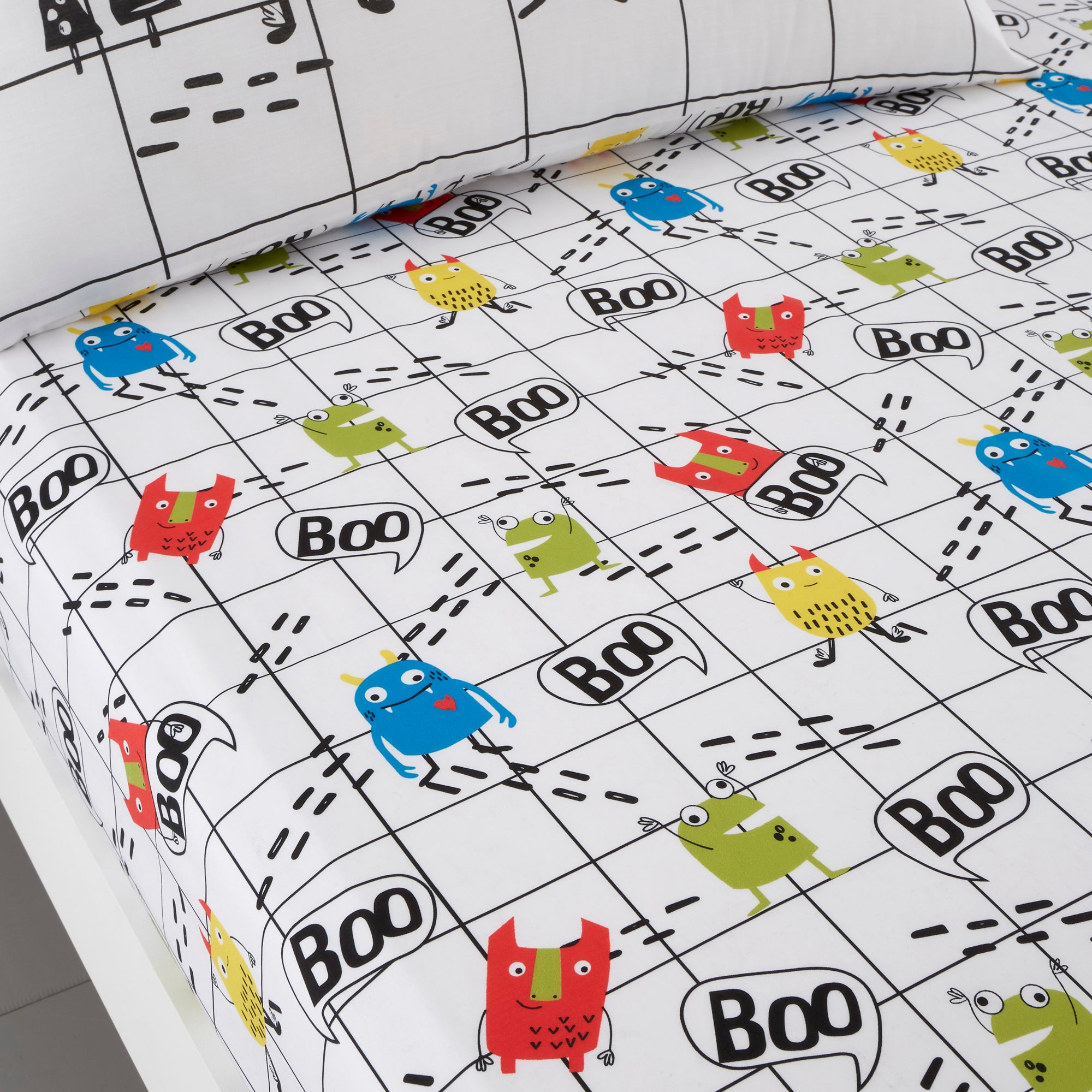 Cosatto Fitted Bed Sheets Cot Monster Mob