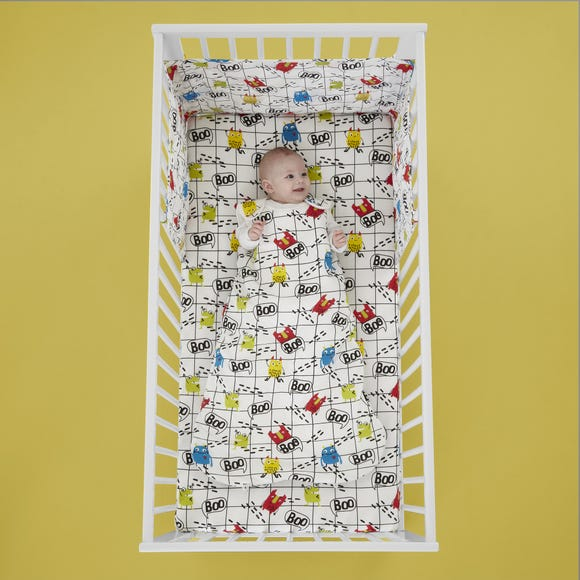 Cosatto Monster Mob 100% Cotton Baby Sleeping Bag White undefined