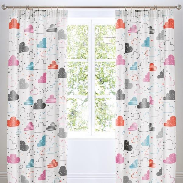 Cosatto Fairy Clouds Pencil Pleat Curtains White