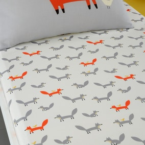Cosatto Mister Fox 100% Cotton Fitted Sheet Twin Pack