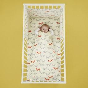 Cosatto Mister Fox 100% Cotton 2.5 Tog Baby Sleeping Bag