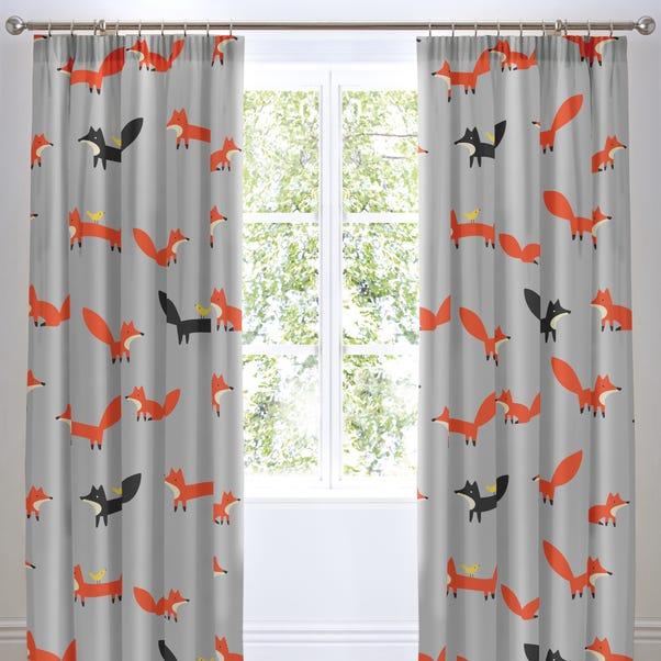 Cosatto Mister Fox Pencil Pleat Curtains Grey