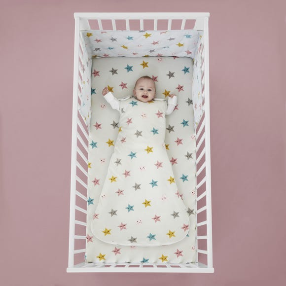 Cosatto Happy Stars 100% Cotton Baby Sleeping Bag Pink undefined
