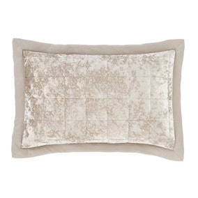 Catherine Lansfield Natural Crushed Velvet Pillowsham Pair