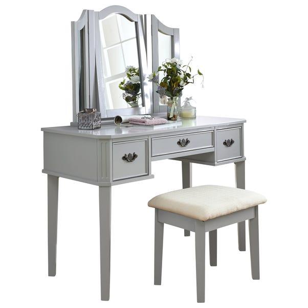 Bella Dressing Table Set Grey