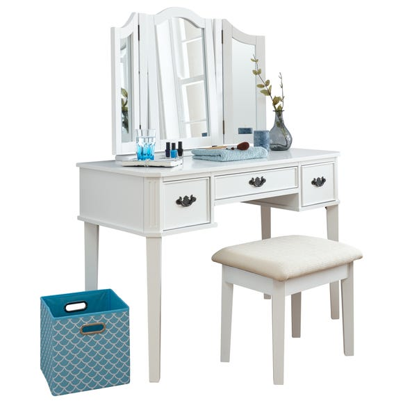 Bella Dressing Table Set White