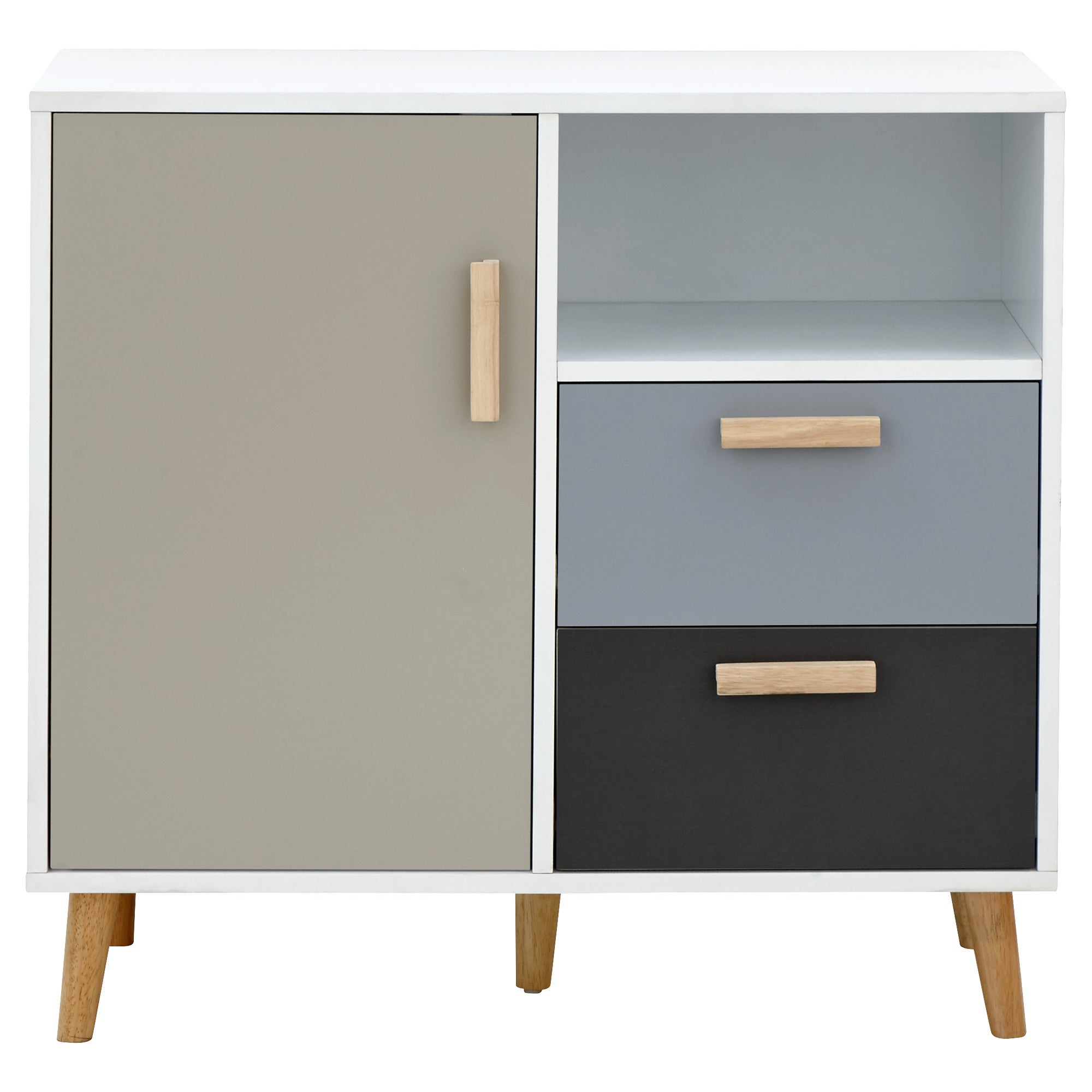 Delta Compact Sideboard Grey, Blue and Brown