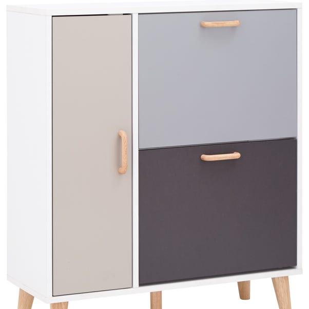Delta Shoe Cabinet Grey