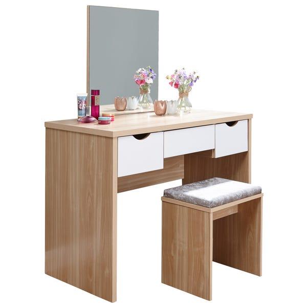 Elizabeth Dressing Table Set Oak (Brown)