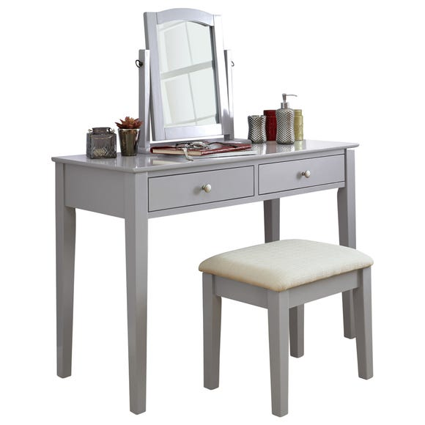 Hattie Dressing Table Set Grey