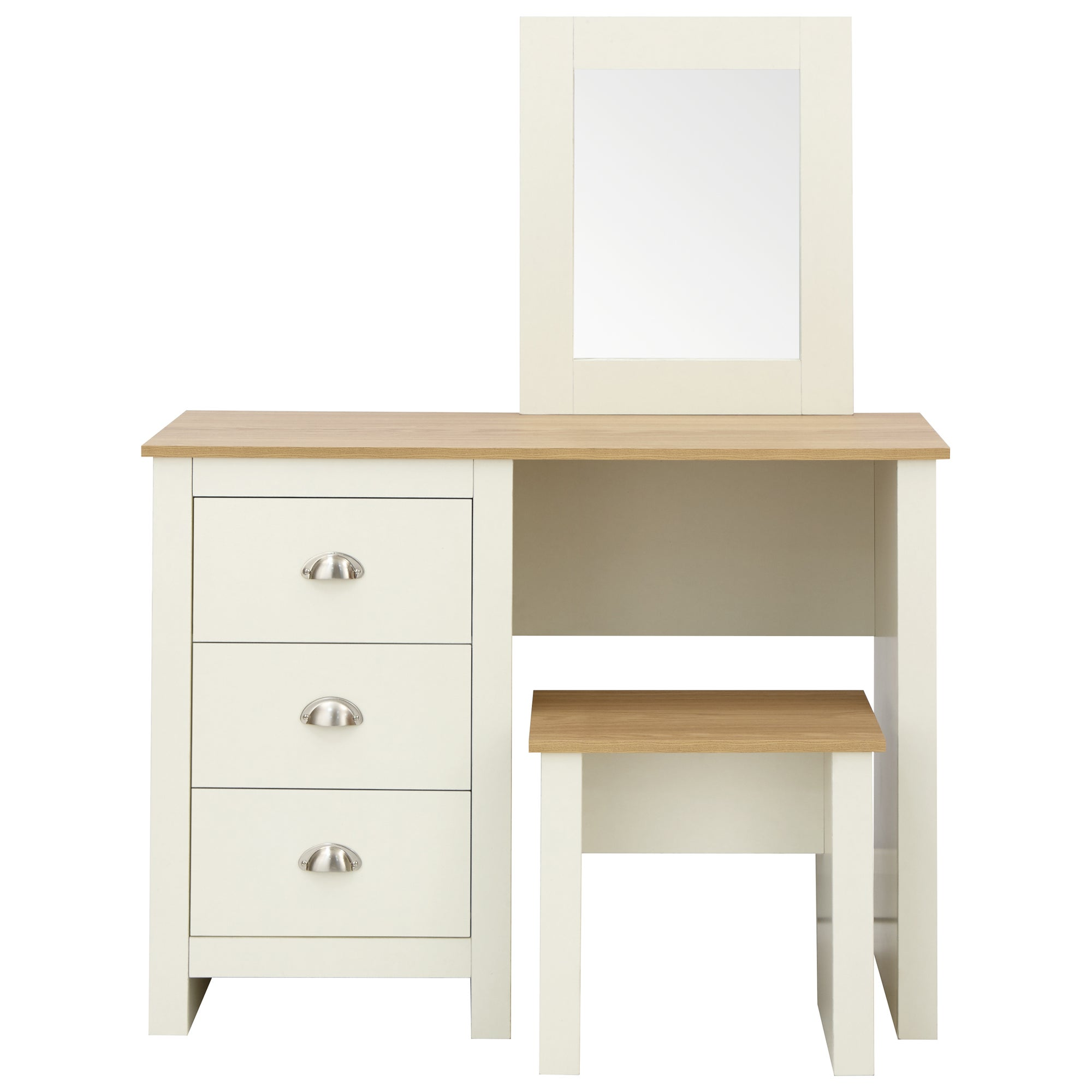 Lancaster Dressing Table Set Cream and Brown