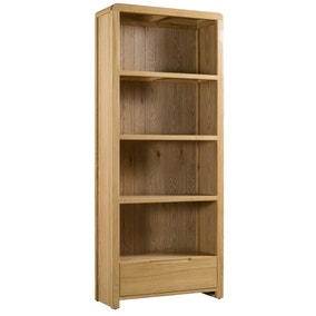 Curve Oak Tall Bookcase