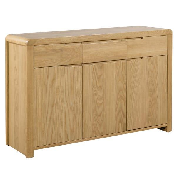 Curve Oak Sideboard Oak (Brown)